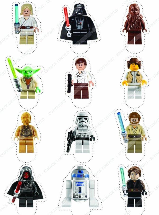 DECORACIÓN PARA PASTELES LEGO STAR WARS | Regalos divertidos
